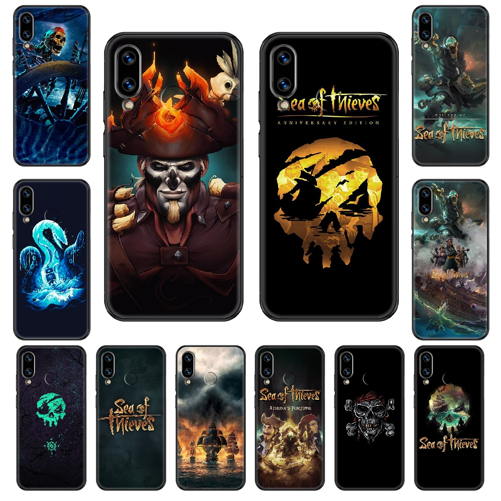 Sea of Thieves Phone case For Huawei Honor Mate 5 7 8 9 10 20 i A X Lite Pro black luxury cover fashion shell tpu Etui painting