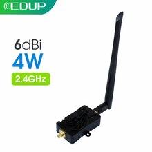 EDUP EP-4W 4000mW 802.11b/g/n Wifi Amplificatore Wireless Router 2.4Ghz WLAN ZigBee BT WiFi Ripetitore Del Segnale con Antenna