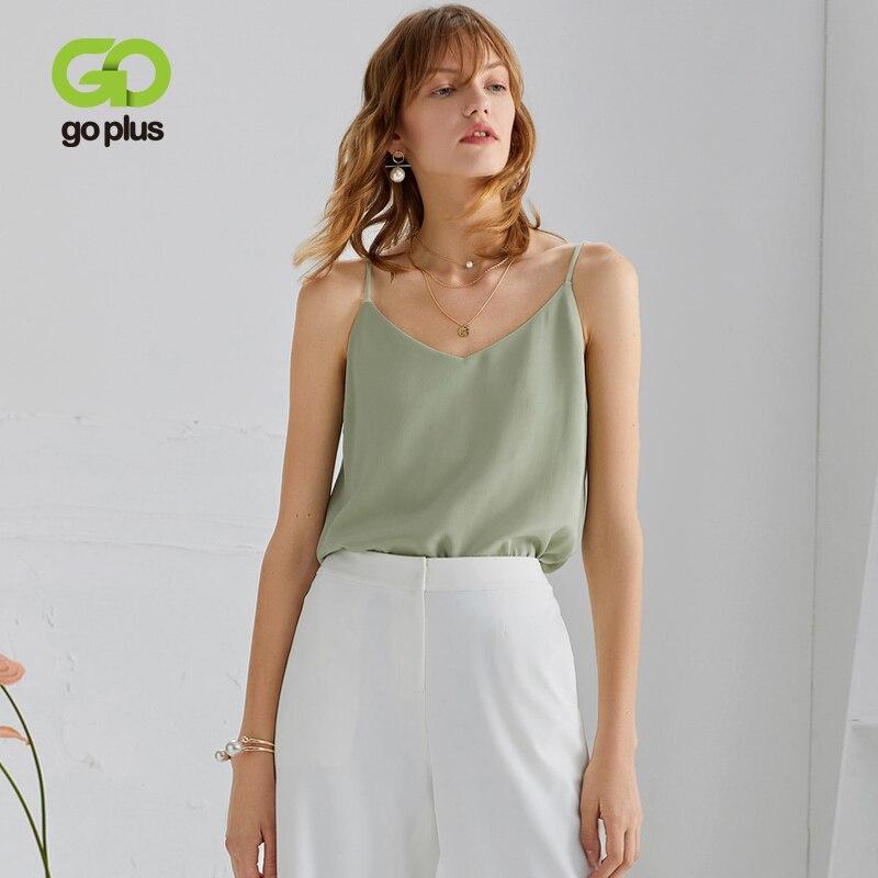 Goplus 2020 cinta de seda superior feminina sexy halter com decote em v sem mangas colete macio cetim tank tops roupa interior plus size feminino