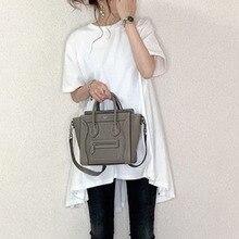 Zomer Basic Wit T-shirt Leuke Lange T-shirt Vrouwen Casual Oversized Koreaanse Stijl Japan Streetwear Asymmetrische Top Tees Vrouwelijke