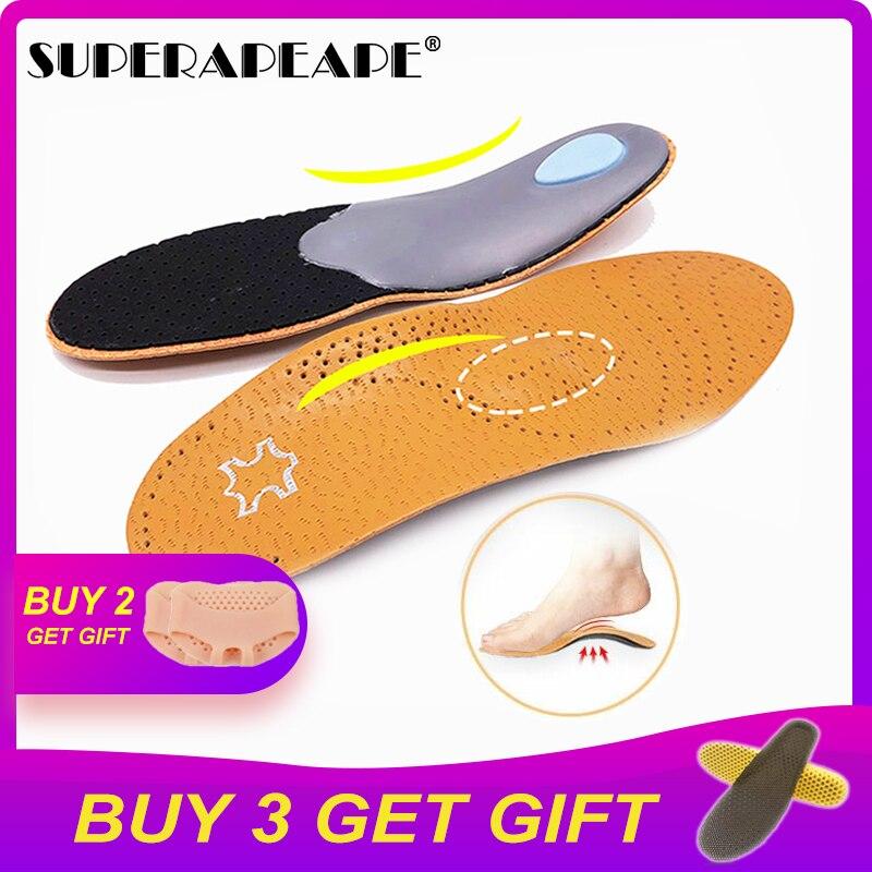 Plantilla ortopédica de cuero de alta calidad para ayuda para el arco del pie plantillas ortopédicas de silicona de 25mm para hombres y mujeres
