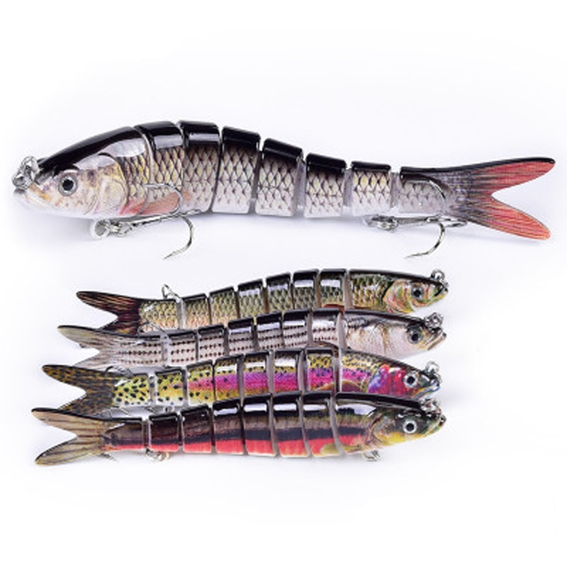 14cm 23g 8 segmentos cebo Artificial duro hundimiento Wobblers Señuelos de Pesca articulados Crankbait Swimbait para aparejos de pesca señuelo