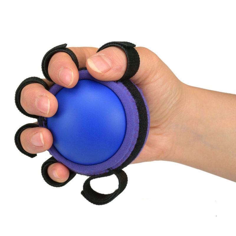 Six Finger Hand Grip Balls Arm Muscle Strength Training Rubber Ball Stroke Hemiplegia Rehabilitation Recovery Health Equipment