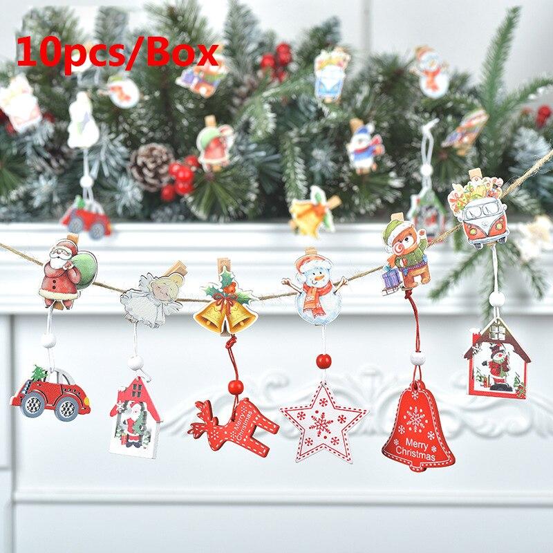 Креативные рождественские деревянные Мультяшные зажимы домашние фото настенные принадлежности Рождественские украшения для дома