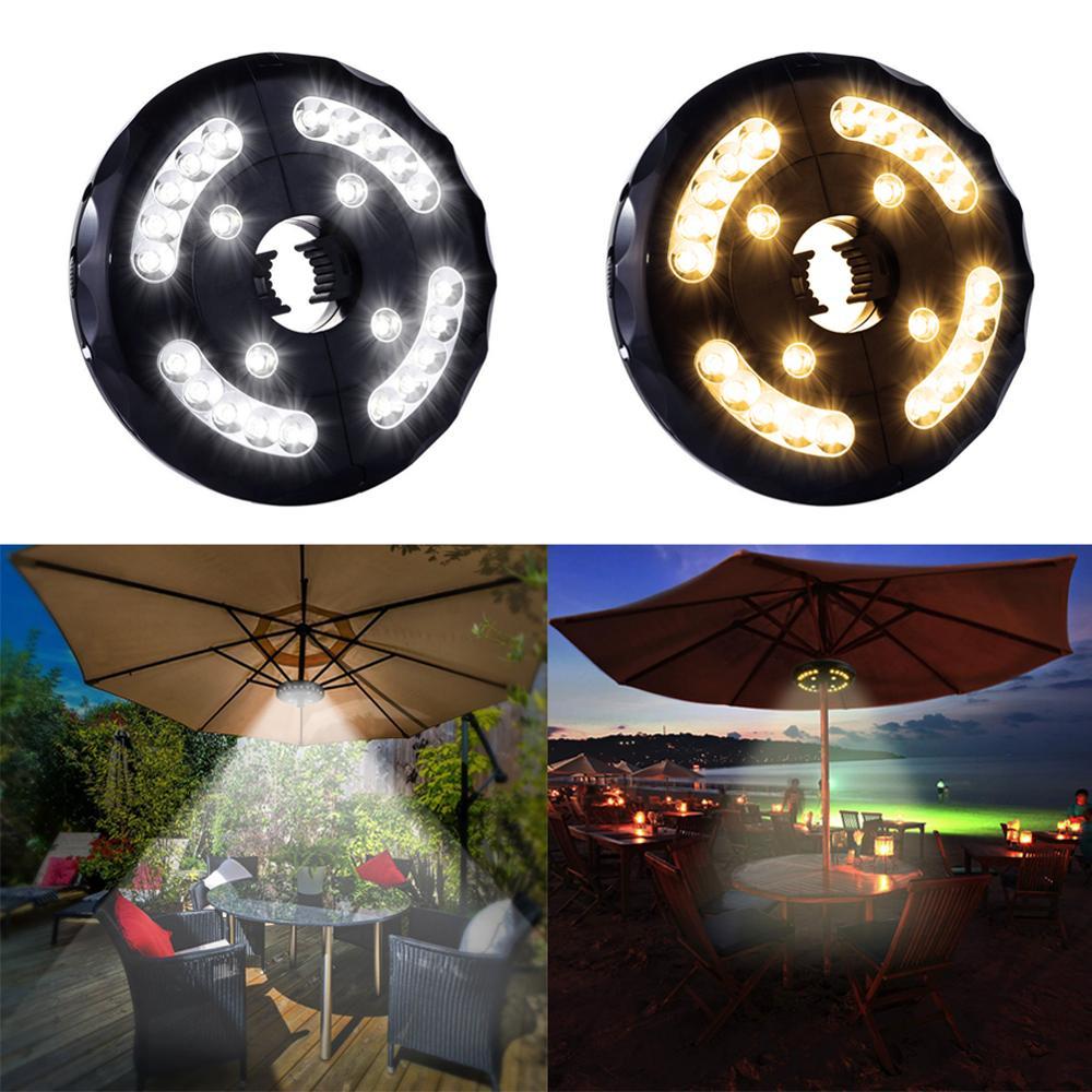 USB открытый тент Кемпинг свет зонтик led беспроводной, в форме зонта Полюс светильник для фонаря пляж сад патио зонтик светильник лампа