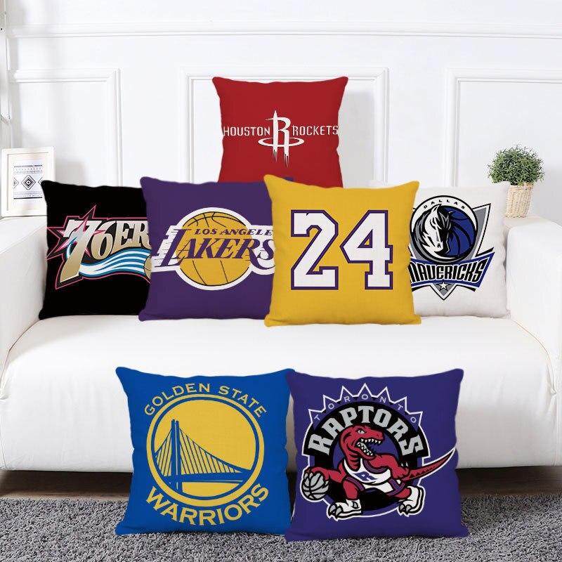 Простой и современный чехол для подушки в стиле игры НБА, чехол для дивана в гостиную, чехол для подушки в машину из полиэстера, чехол для спа... чехол