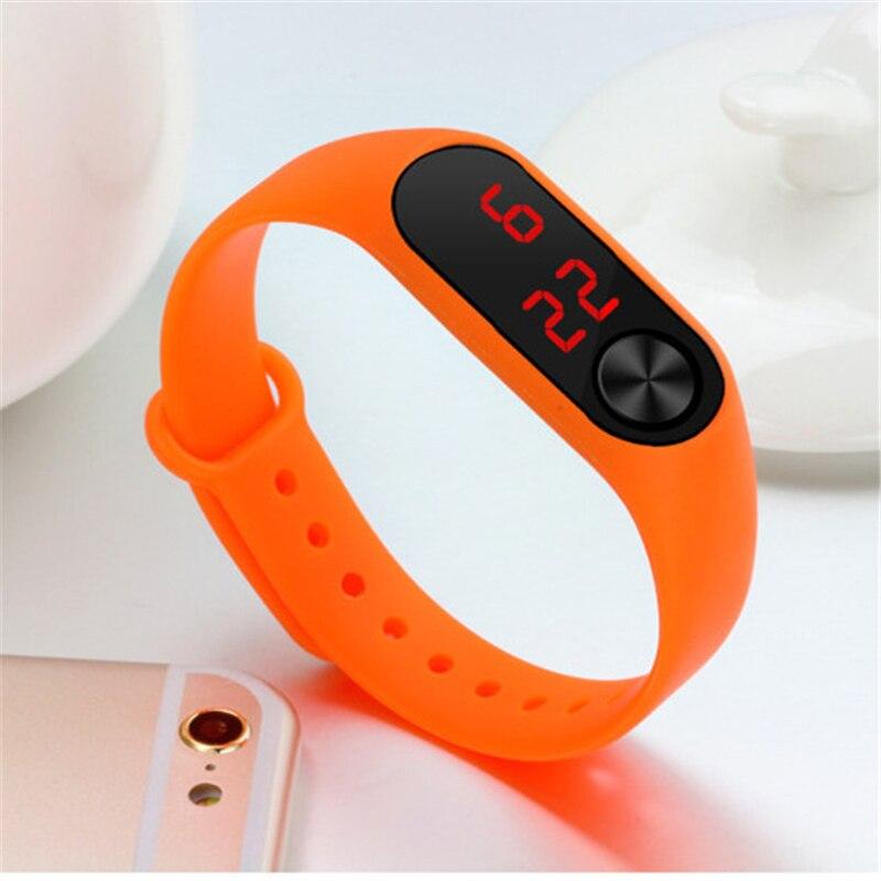 Часы с браслетом светодиодные детские наручные часы силиконовым ремешком