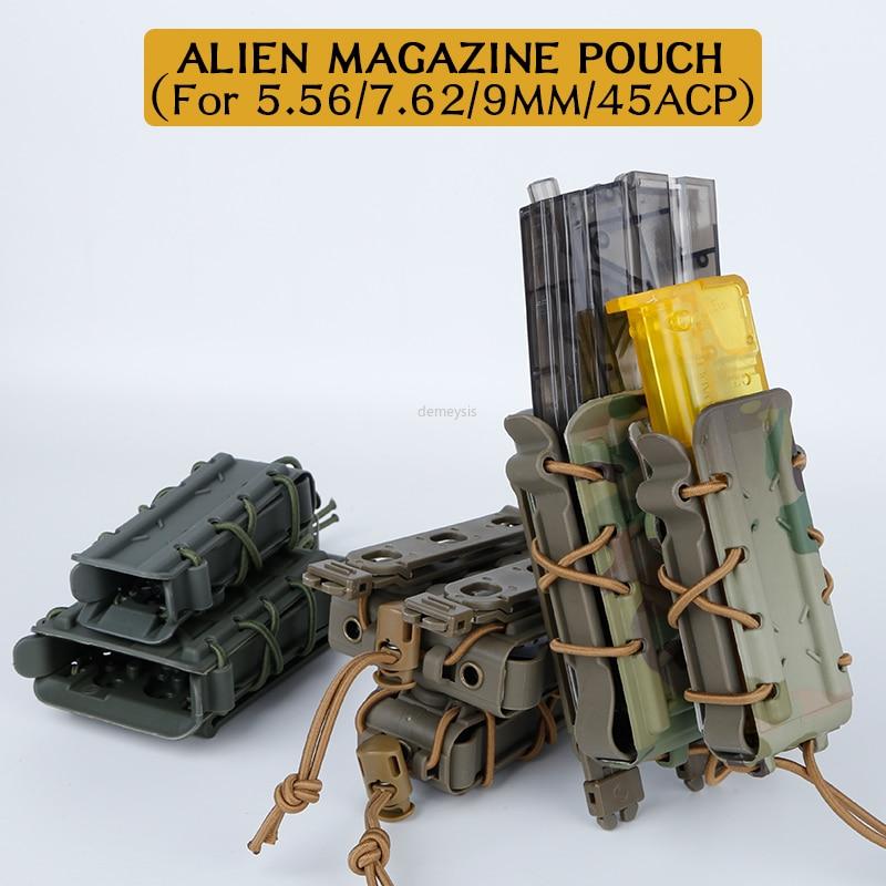 Bolsas militares para revistas Molle 5,56/7,62/9MM/45ACP, bolsa táctica para revistas de Paintball, bolsa de Nylon Mag para disparos militares