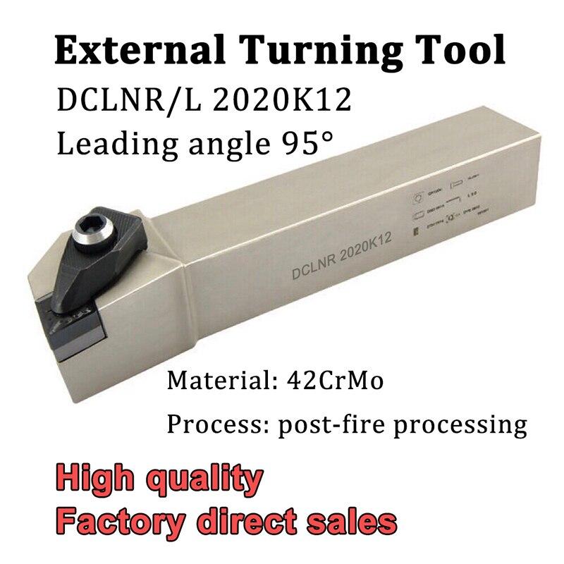 DCLNR2020K12 DCLNL2020K12 soporte de herramienta de torneado externo CNC cortador de torno DCLNR DCLNL para herramientas de torneado insertos de carburo CNMG1204