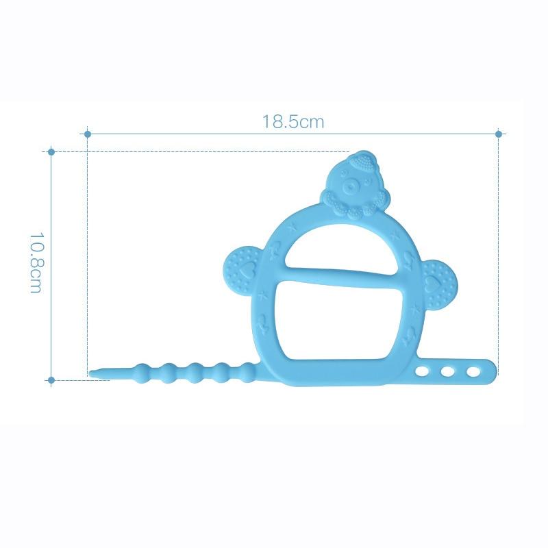 10 Pcs/lot Children Baby Infant Teether Soft Silicone Bracelet Glove Grinder Bandage Baby Bite Adhesive Solid Teeth