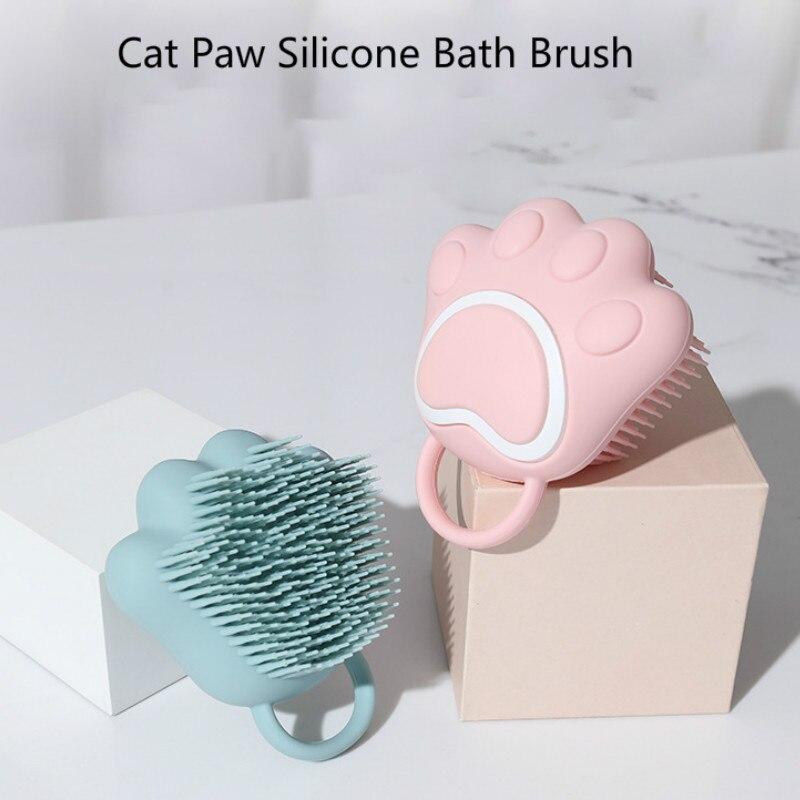 Cartoon Cat Paw Baby Shower Brush Fast Foaming Silicone Scrubbing Artifact Full Body Massage Spa Bru