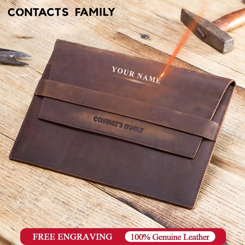 Pochette en cuir véritable rustique personnalisée pour iPad mini 7.9 pouces Unique personnel pour iPad mini 2 3 4 5 pochette pour tablette