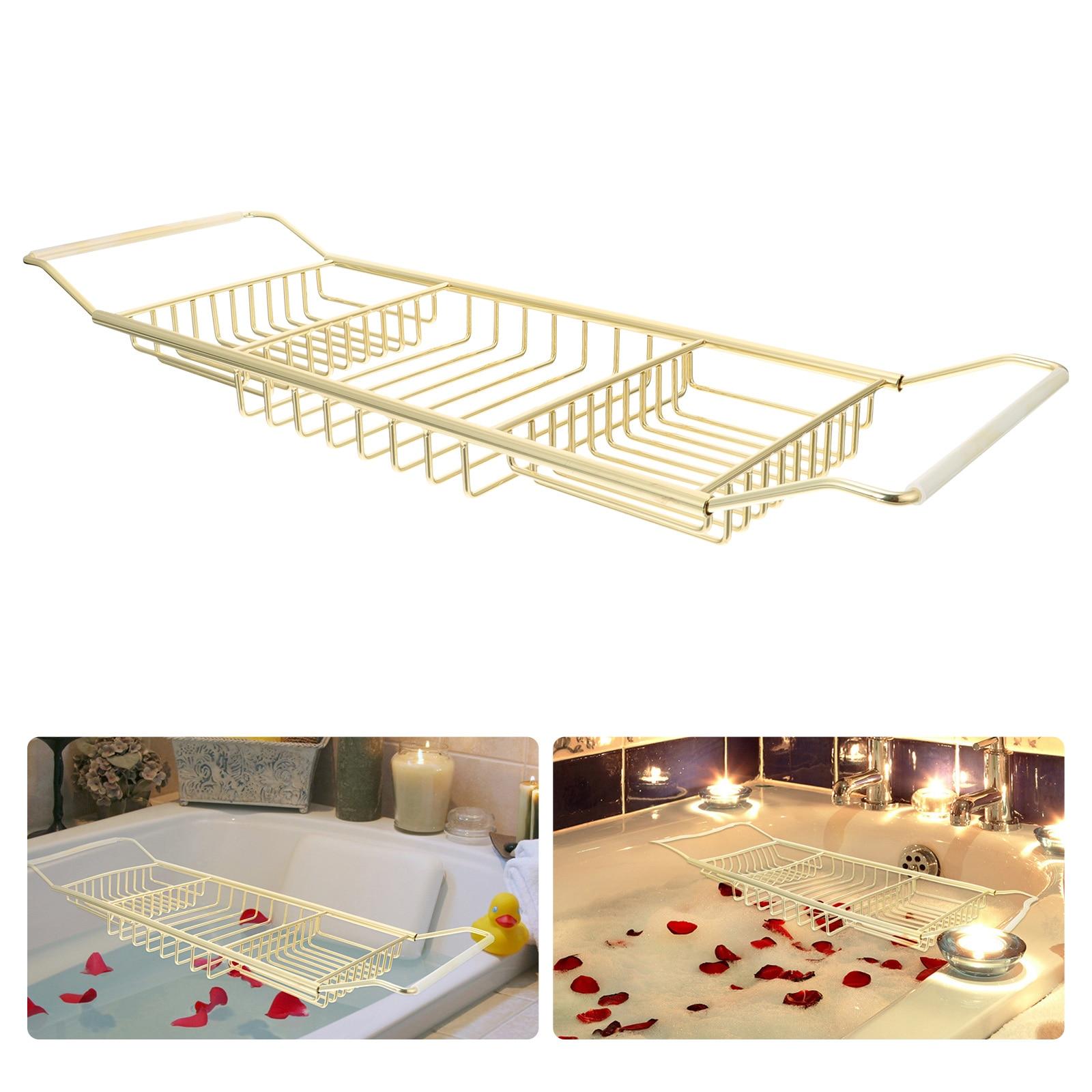 رف حمام قابل للتمديد تنوعا حوض الاستحمام طقم حمام من الفولاذ المقاوم للصدأ حوض الجرف
