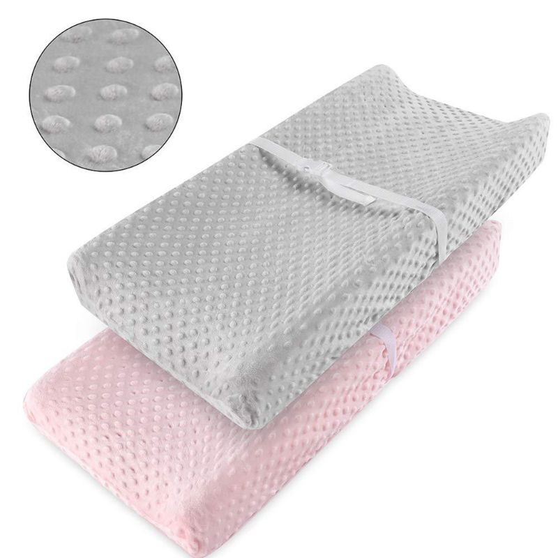Soft Reusable Changing Pad Cover Travel Baby Breathable Diaper Pad Sheets Cover 95AE