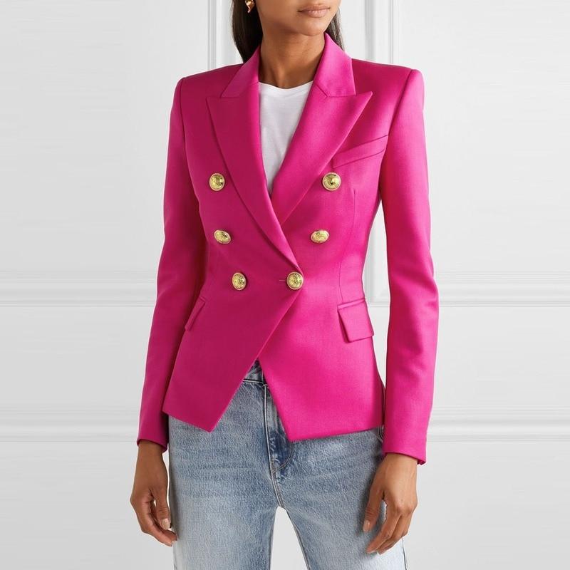 Женский блейзер и костюмы, Осень-зима 2020, клетчатое пальто с птицами, модный офисный женский пиджак на пуговицах, Женский Топ