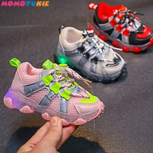 Size 21-30 Baby Toddler Glowing Shoes Children Led Breathable Shoes Boys Glowing Sneakers Girls Snea