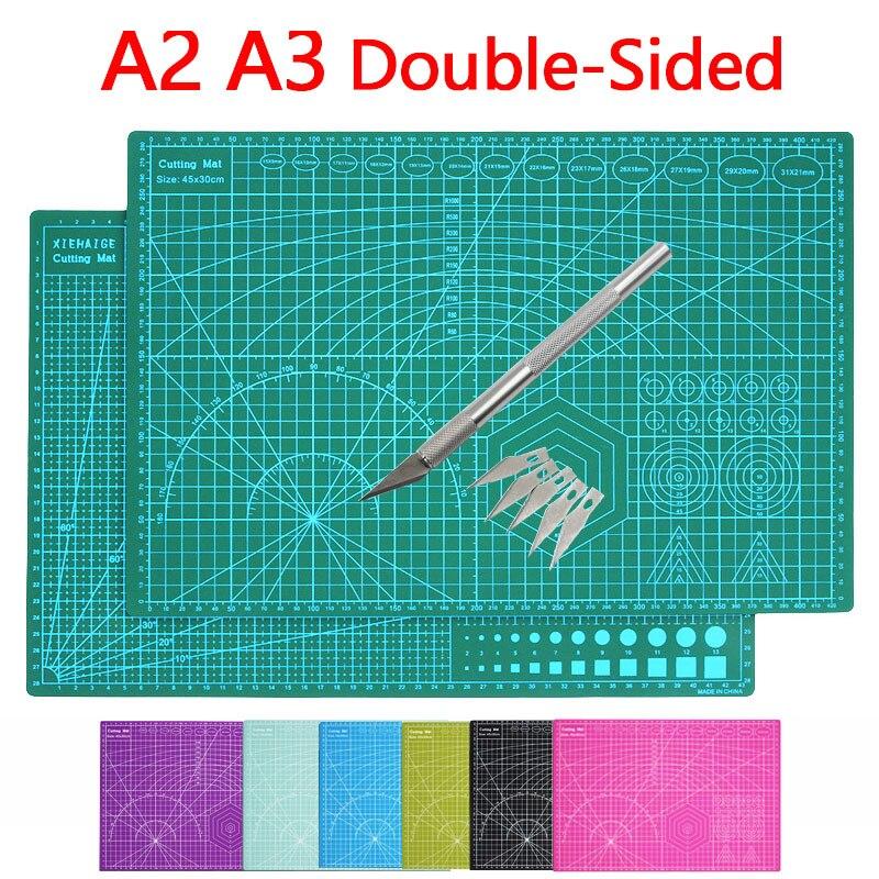 A2 a3 cor multifunction pvc auto cura cuting tapete de corte placa corte cortador de papel faca diy artesanato ferramentas escritório suprimentos