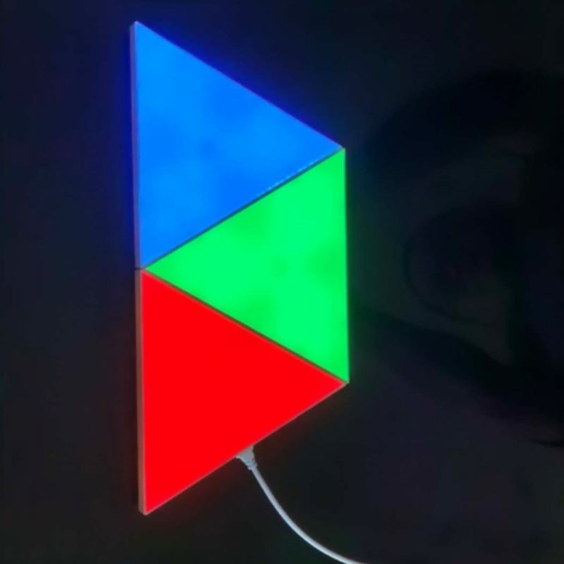 Bluetooth Controller LED Triangle Quantum Lamp Night Light For Home Beedroom Decorion LED Modular Colorful Wall Light enlarge