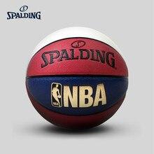 SPALDING original Nba Classic Indoor Outdoor Basketball Pu material size 7# Standard Match Ball 74-655y  Baloncesto Basketbol