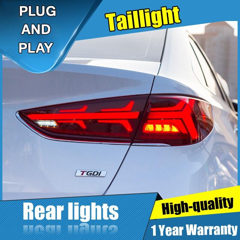 4 pièces style de voiture pour Hyundai Sonata 9 feux arrière 2015-2019 pour Sonata 9 feu arrière LED + clignotant + frein + lumière LED arrière