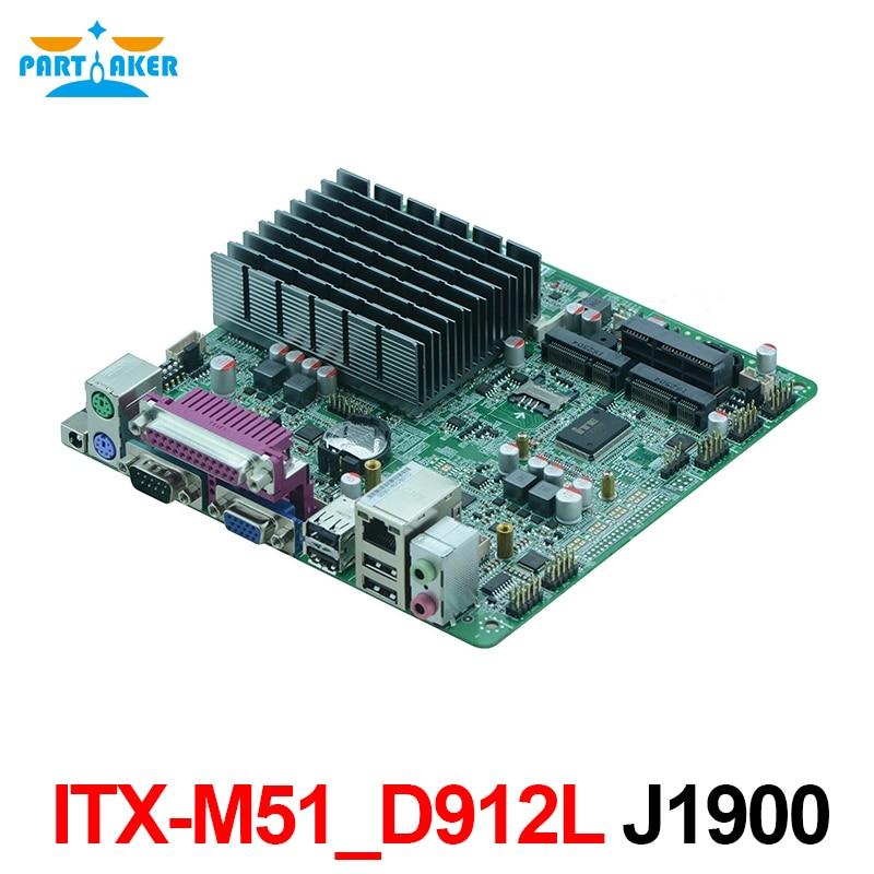 Partaker ITX-M51_D912L Intel Celeron J1900 Quad Core Mini ITX Fanless Mainboard 12V