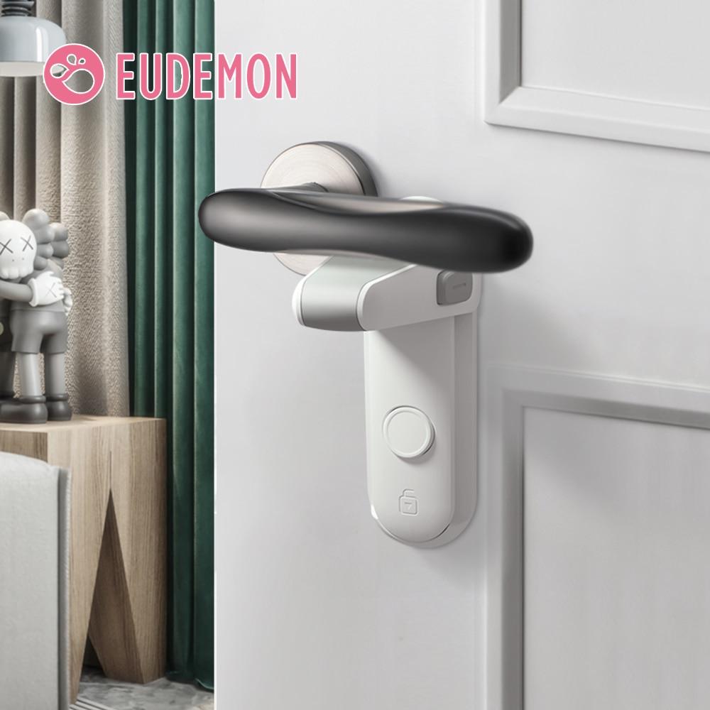 EUDEMON Door Lever Lock, Baby Proofing Door Handle Lock,Childproofing Door Knob Lock Easy to Install and Use 3M VHB Adhesive