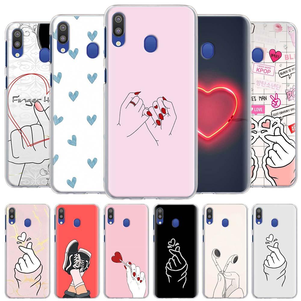 kpop Love on the finger kpop heart Phone Cases for Samsung Galaxy A10 A20e A30 A40 A50s A60 A70 A80 A6 A7 A8 A9 2018 Hard Cover
