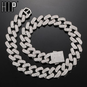 Hip Hop 20MM CZ 3 Row Heavy Shine Cuban Prong Chain Bracelet Necklaces Iced Out Zirconia Choker Chains For Men Women Jewelry