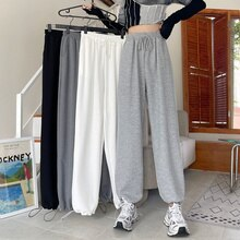 Small casual pants children's new autumn 2021 high waist slim drawstring wide leg guard pants versat