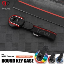 For MINI Cooper Key Case for Car Cover F54 F55 F56 F60 One D S KeyChain Union Jack Bulldog JCW Prote