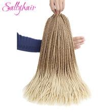 Sallyhair mince sénégalais Crochet sénégal torsion tresses 30 brins/paquet 14 pouces 18 pouces couleur Blonde Ombre synthétique tressage cheveux
