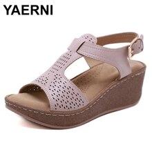 YAERNI nouvelle mode européenne américaine femme sandale élégante strass fleur talon plat Style romain chaussures filles été décontracté