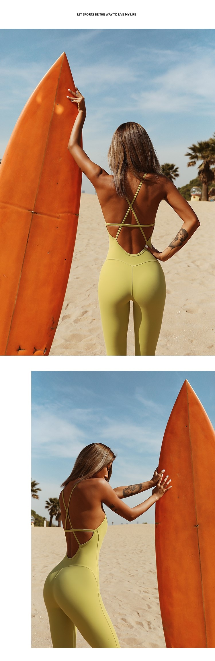 Backless Sexy Sport Women Yoga Jumpsuit Product Picture