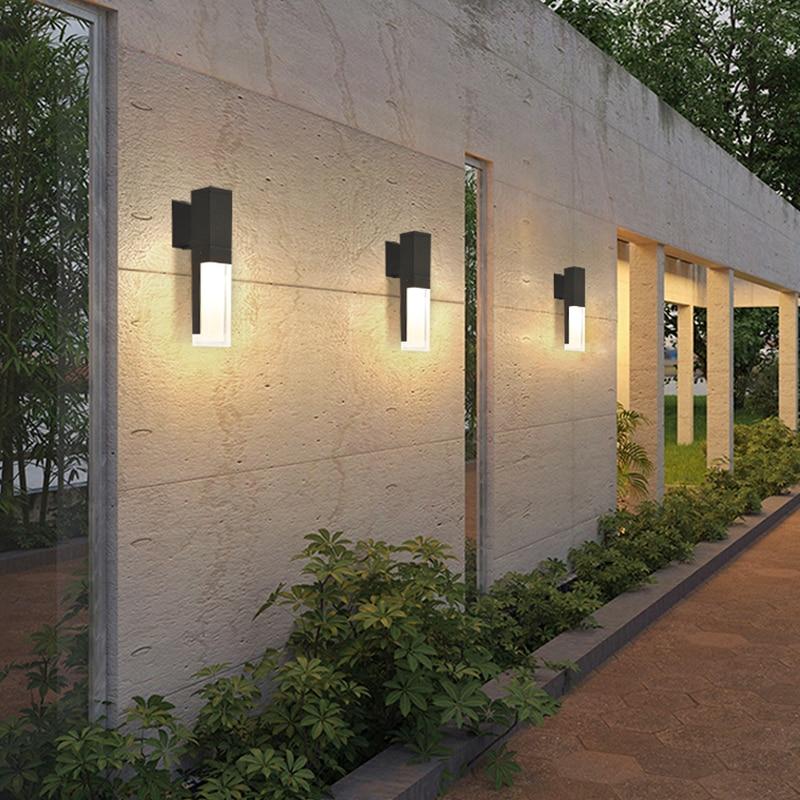 مصباح حائط LED مقاوم للماء مع كاشف حركة ، إضاءة خارجية ، مثالي للفيلا ، الفندق ، الفناء ، الممر ، الحديقة الشتوية ، إلخ.