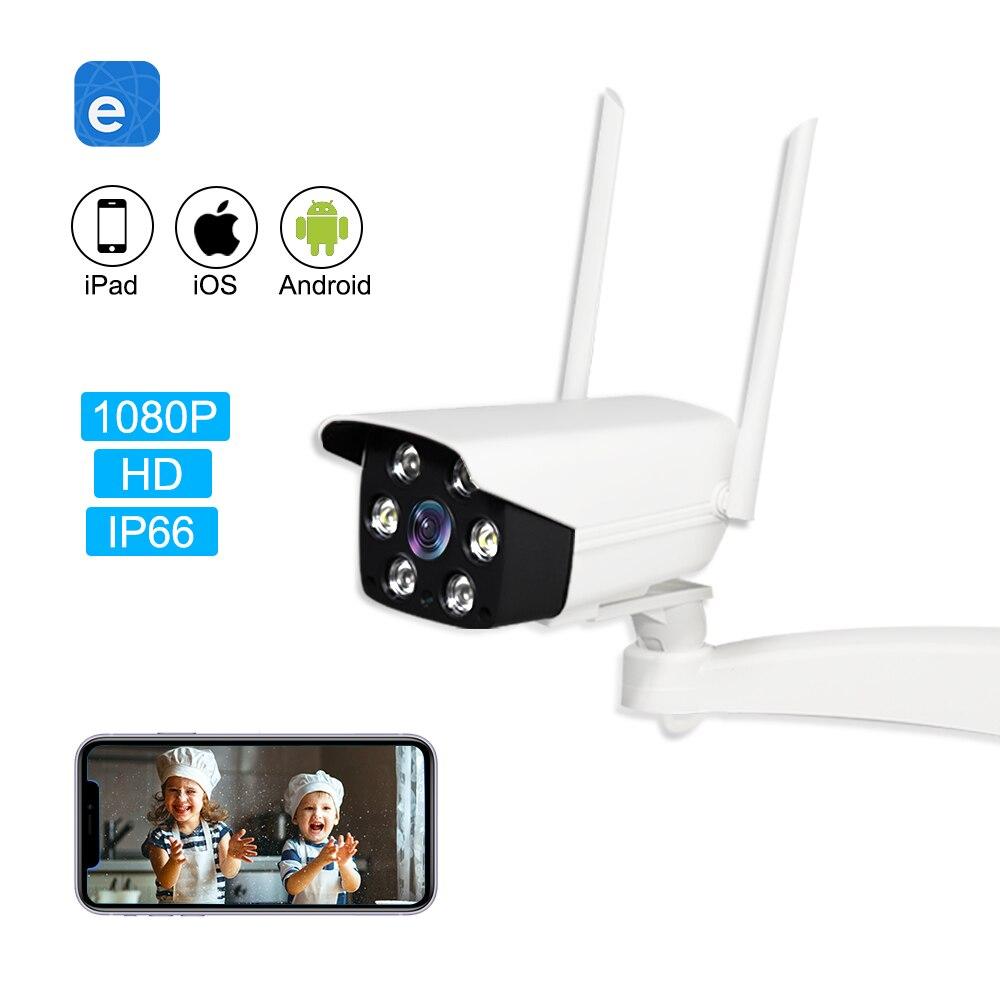EACHEN WiFi cámara inalámbrica inteligente al aire libre con aplicación EWelink 1080p HD CCTV Outdoor eye con soporte de fuente de alimentación