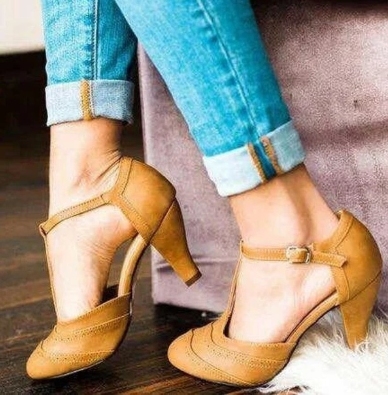 Women Shoes Sandals Summer High Heel Shoes Buckle PU Leather Gladiator Luxury Shoes Women Designers