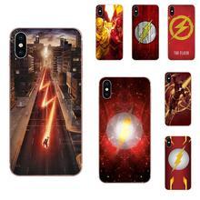 La pochette Mobile Flash Barry Allen Super héros pour Samsung Galaxy A01 A51 A71 Galaxy S20 Ultra S11 S11E S10 Plus