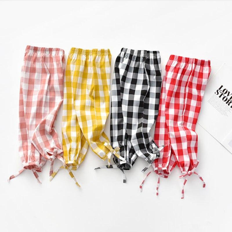 Pantalones de verano para niñas, ropa para niños, pantalones para niñas, pantalones sólidos para niñas 2020, aire acondicionado para niños pequeños, antimosquitos