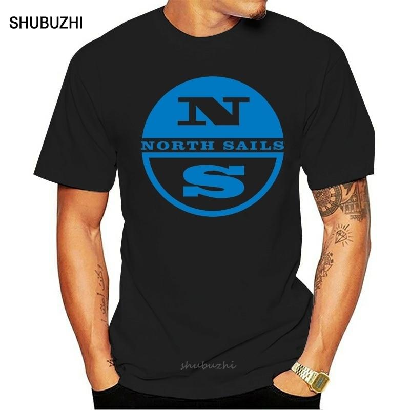 Camiseta divertida para hombre, camiseta blanca, camiseta negra con Logo de North Sails, nueva camiseta a la moda para hombre, camiseta divertida de cuello redondo, camisetas negras