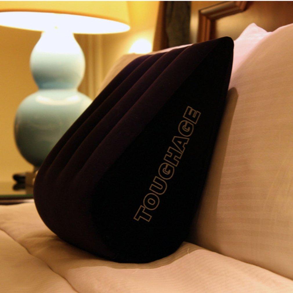 Almohada inflable TOUGHAGE, cojín flocado, cojín de posición de amor, máquina de muebles sexuales para mujeres, sofá erótico, juego para adultos