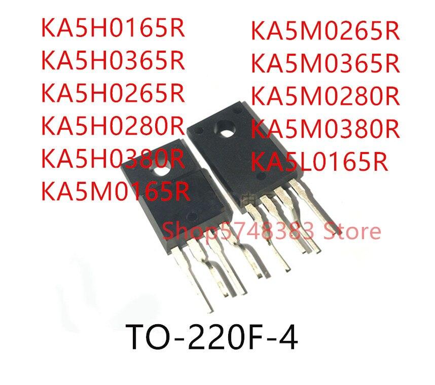 10PCS KA5H0165R KA5H0365R KA5H0265R KA5H0280R KA5H0380R KA5M0165R KA5M0265R KA5M0365R KA5M0280R KA5M0380R KA5L0165R TO-220F-4
