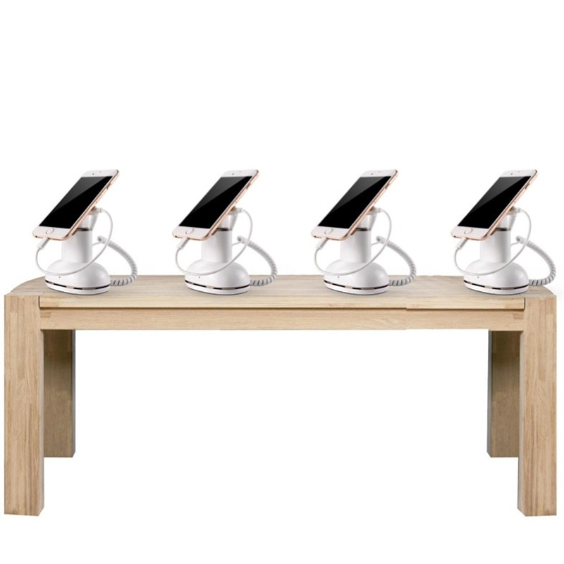 sold in pack of 10 set retail shop table demo live display remote control charge up single alarm security mobile stand enlarge