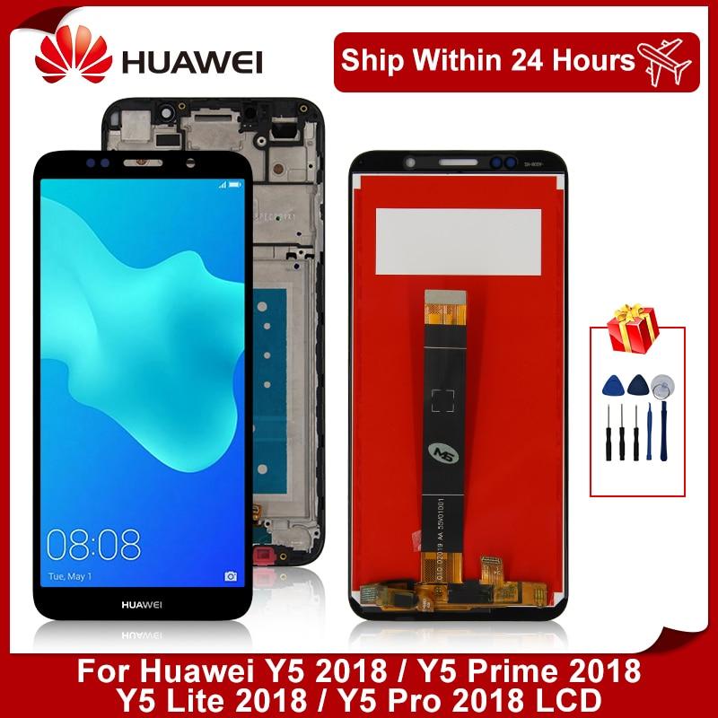 ЖК-дисплей 5,45 дюйма для Huawei Y5 Lite 2018, Y5 2018, сенсорный экран с дигитайзером для Huawei Y5 Prime 2018, Y5 pro 2018, детали в сборе