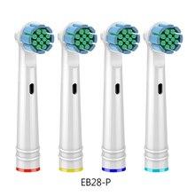 4 pièces/lot soins des gencives remplacement brosse à dents têtes pour Oral B Braun brosse à dents tête avance puissance/Pro santé/Triumph/3D Excel