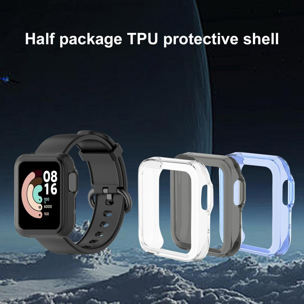 Portable Transparent Shockproof TPU Smart Watch Screen Protector Protective Cover for Xiaomi Mi/Redmi Watch Lite Accessories transparent screen protector for xiaomi smart sports watch