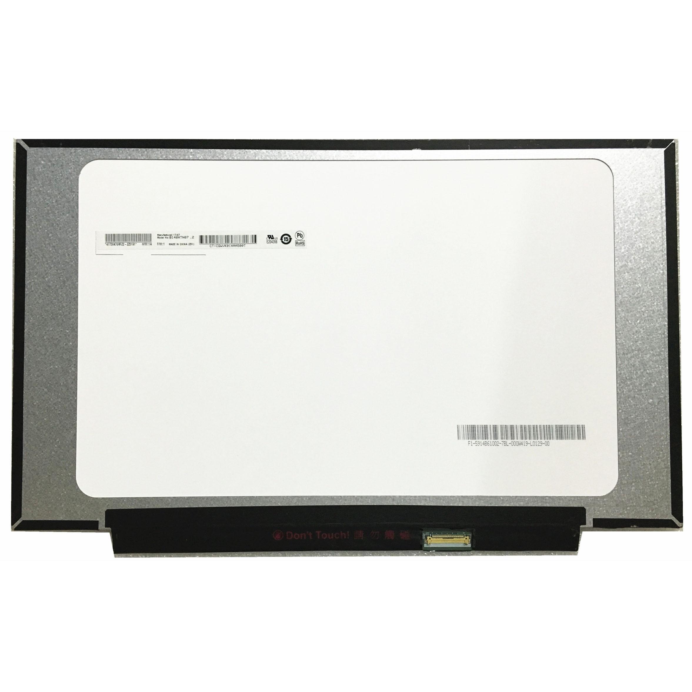 Envío Gratis B140XTN07.3 B140XTN07.2 B140XTN07 14,0 inch pantalla Lcd de ordenador portátil 1366*768 EDP 30 pines