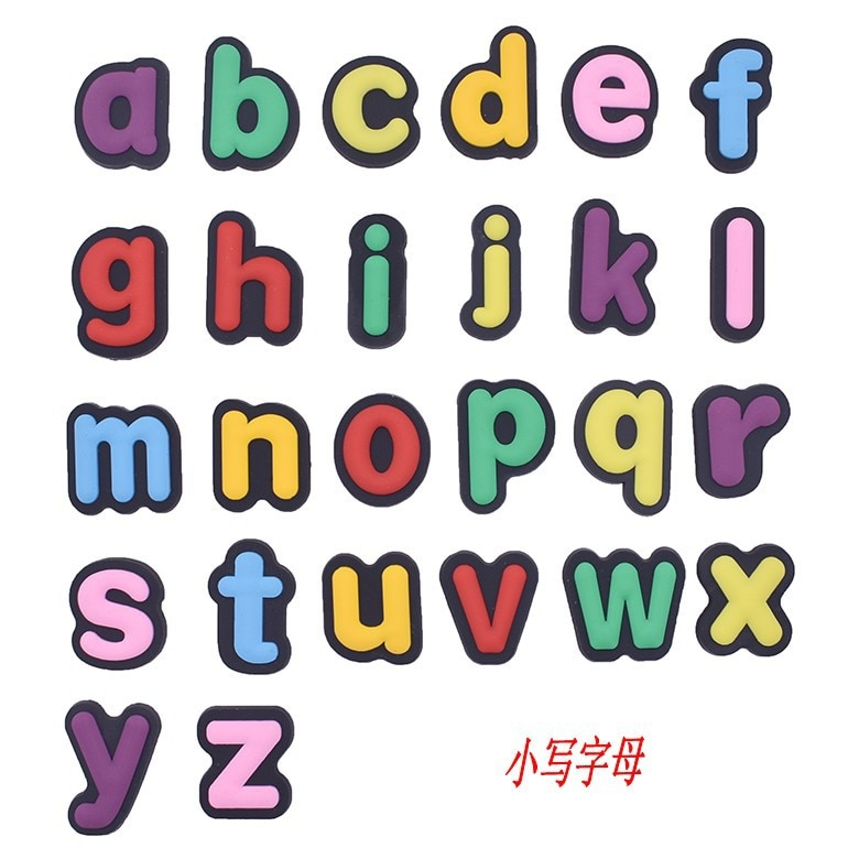 1PCS Letter Shoes Charms Decoration For Wristband Alphabet Number Accessories For Croc JIBZ Kids Gif