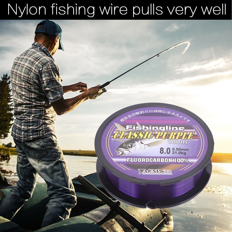 100/150/200/300/500M de fluorocarbono de monofilamento de Nylon línea de pesca Pesca línea principal con caja de plástico accesorios de pesca