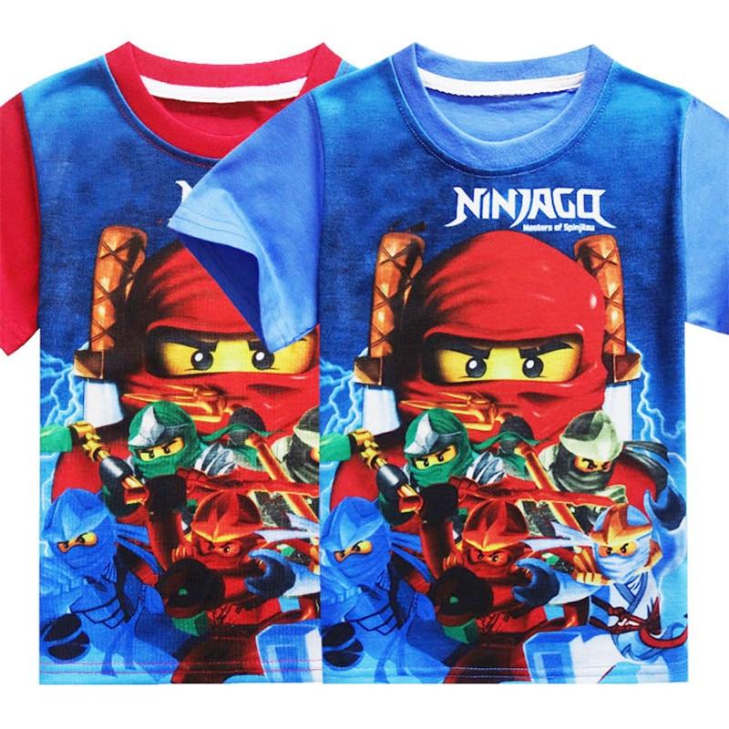 2020 niños camisetas Ninjago Verano de dibujos animados bebé niñas camiseta niños ropa de Ninja traje niños ropa Top Tees Ninjago