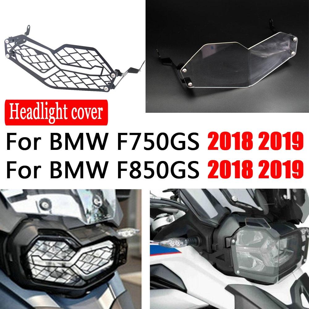 Cubierta de cristal de la lámpara de la cabeza de la motocicleta para BMW F850GS F750GS 2018-2019 Protector de la parrilla del faro F850 F750 GS F 850 F 75